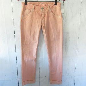 Hudson Jeans Bacara Straight Crop Cuffed Stripe